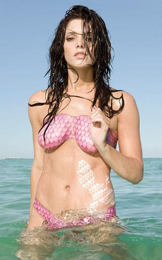 Ashley Greene Body Paint Bikini Pictures