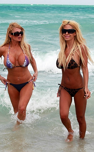 Shauna Sand and Friend Bikini Pictures