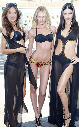 Adriana Lima, Alessandra Ambrosio and Candice Swanepoel Bikini Pictures