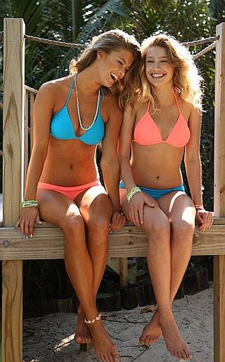 Nina Agdal and Cailin Russo Bikini Pictures